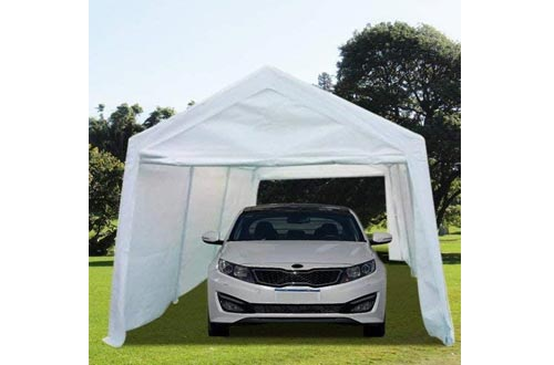 Overwhelming 10'x20' Heavy Duty Carport Outdoor Car Canopy Garage Car Shelters-White