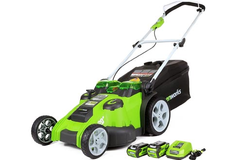 Greenworks 40V 20-Inch Cordless Twin Force Lawn Mowers, 4Ah & 2Ah Batteries with Charger Included