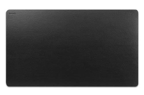 Nekmit Leather Desk Blotter Pads Waterproof, Non-Slip,36 x 20 Inches, Black