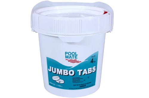 Pool Mate 1-1404 Jumbo 3-Inch Chlorine Tablets, 4-Pound