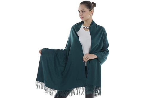 Niaiwei Cashmere Scarfs Blanket Large Soft Pashmina Shawl Wrap For Men and Women