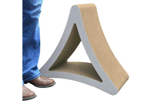 PetFusion 3-Sided Vertical Cat Scratching Posts (Avail in 2 Sizes). [Multiple Scratching Angles to Match Your Cat's Preference]