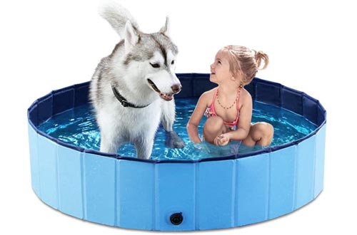 Jasonwell Foldable Dog Pet Bath Pools Collapsible Dog Pet Pools Bathing Tub Kiddie Pools for Dogs Cats and Kids