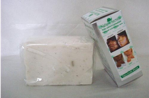NATURE SECRETE Whitening and Exfoliating Gommant Face and Body Soaps 350grs