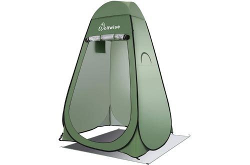 WolfWise Pop Up Privacy Showers Tent Portable Outdoor Sun Shelter Camp Toilet Changing Dressing Room