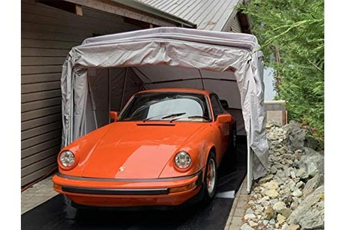 Ikuby All Weather Proof Medium Carport, Car Shelters, Car Canopy, Car Garage, Car shed, Car House, Car Park, Foldable, Retractable, Lockable, Durable Shelters