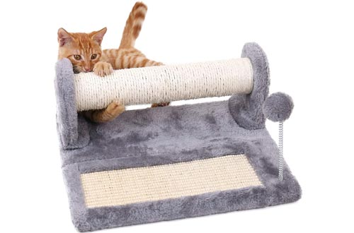 PAWZ Road Cat Scratching Posts and Pad, Sisal-Covered Scratch Posts and Pads with Play Ball Great for Kittens and Cats