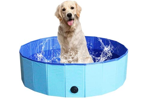 NHILES Portable Pet Dog Pools, Collapsible Bathing Tub, Indoor & Outdoor Foldable Leakproof Cat Dog Pet SPA for Dogs Cats and Kids