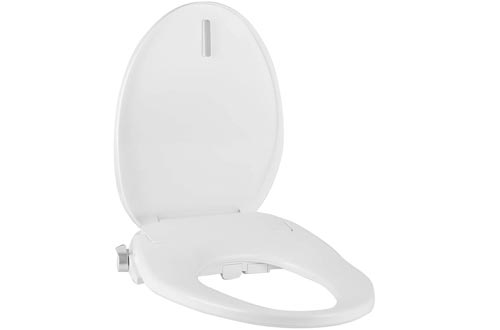 Tibbers Home Electric Bidet Toilet Seats, Adjustable Heated Seats and Water, Dual Nozzle, Elongated Bidet Seats, White