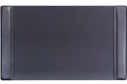Dacasso Black Leather 34 x 20 Side-Rail Desk Pads