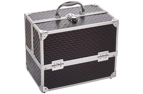 Caboodles Love Struck Six Tray Makeup Train Cases, 3.91 Pound