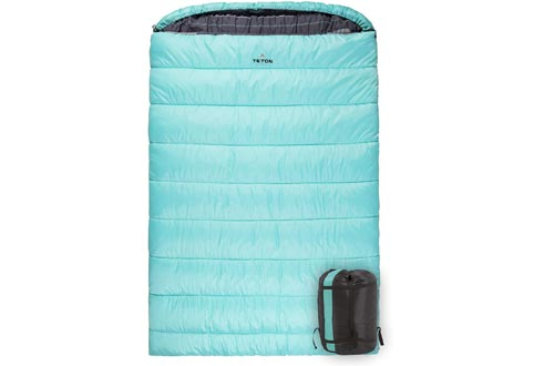 TETON Sports Mammoth Queen-Size Double Sleeping Bags; Warm and Comfortable for Family Camping