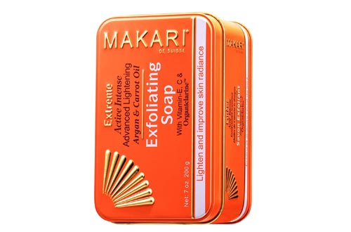 Makari Extreme Carrot & Argan Oil Bar Soaps 7oz. – Anti-Aging Soaps Exfoliates & Lightens Skin with Organiclarine – Whitening Treatment for Dark Spots, Acne Scars, Sun Patches & Hyperpigmentation
