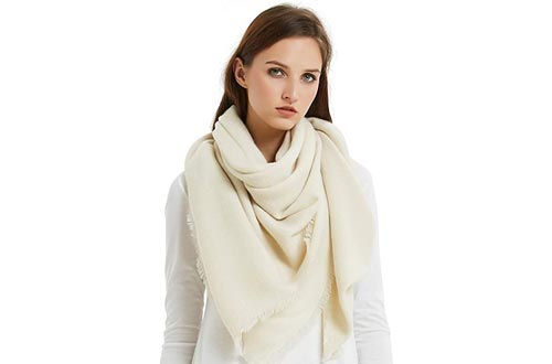 VIVIAN & VINCENT Soft Classic Luxurious Blanket Solid Color Square Scarfs Wrap