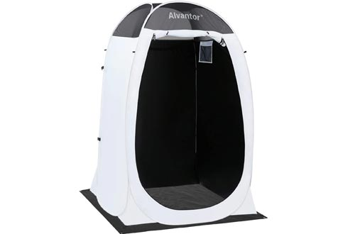 Alvantor Showers Tent Changing Room Outdoor Toilet Privacy Pop Up Camping Dressing Portable Shelter Teflon Coating Fabric 4'x4'x7' Patent