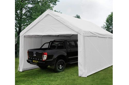Quictent 13'X20' Carport Heavy Duty Car Canopy Galvanized Car Shelters with Reinforced Ground Bars