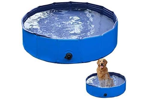 VaygWay Foldable Pet Dog Pools – Portable Swimming Pools Dogs Cats – Bathing Tub and Kiddie Pools – Collapsible Pools for Dogs Cats and Kids