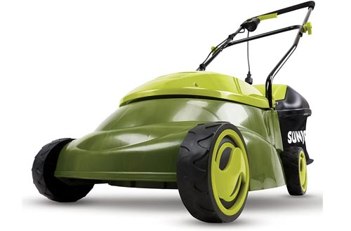 Sun Joe MJ401E 14-Inch 12 Amp Electric Lawn Mowers with Grass Bag, Green