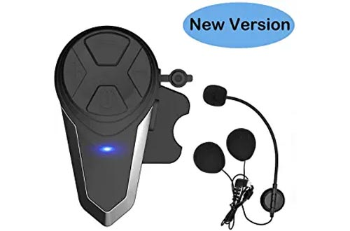 THOKWOK Motorcycle Bluetooth Headsets,BT-S3 1000m Helmet Headphones for Snowmobile Motorcycle Bluetooth Communication System Ski Intercom Up to 3 Riders(Boom Microphone, Pack 1)