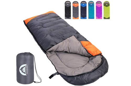 SWTMERRY Sleeping Bags 3 Seasons (Summer, Spring, Fall) Warm & Cool Weather - Lightweight,Waterproof Indoor & Outdoor Use for Kids, Teens & Adults for Hiking and Camping