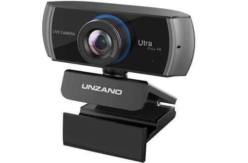 Full HD Webcams 1080P, Streaming Camera, Widescreen Video Calling and Recording with Microphone, USB Wide Angle Skype Camera with Facial-Enhancement Technology, Desktop, Laptop,YouTube, Xbox