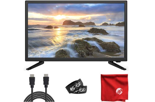 Sansui 24-Inch 720p HD LED Smart TVs (S24P28DN) with Built-in HDMI, USB, High Resolution, Digital Noise Reduction, Dolby Audio Bundle with 6.5 ft HDMI Cable and Accessories