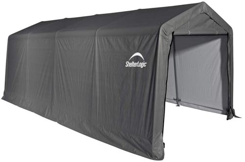 ShelterLogic All-Steel Metal Frame Instant Garage and AutoShelters with Waterproof and UV-Treated Ripstop Cover