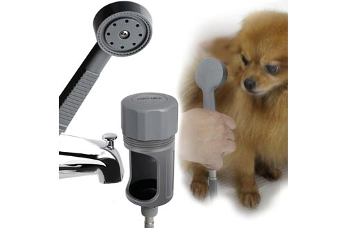 YOO.MEE Pets Showers Attachment, Quick Connect on Tub Spout w/Front Diverter, Ideal for Bathing Child, Washing Pets and Cleaning Tub