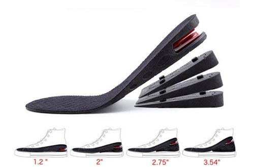"Height Increase Insoles, 4-Layer Orthotic Heel Shoe Lift kit with Air Cushion Elevator Shoe Insoles Lifts Kits Inserts for Men & Women Taller Insoles 1.2"" to 3.5"" Variable Height Adjustable"