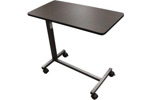 Drive Medical Non Tilt Top Overbed Tables, Silver Vein