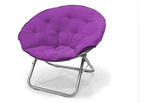 Urban Shop , Iris Contemporary Plush Microsuede Saucer Chairs, Solid