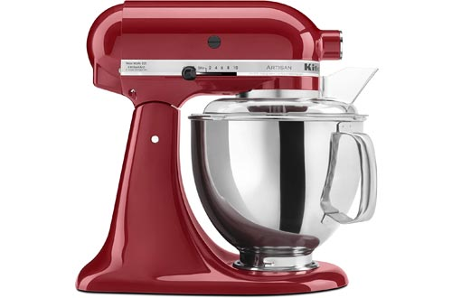 KitchenAid KSM150PSER Artisan Tilt-Head Stand Mixers with Pouring Shield, 5-Quart, Empire Red