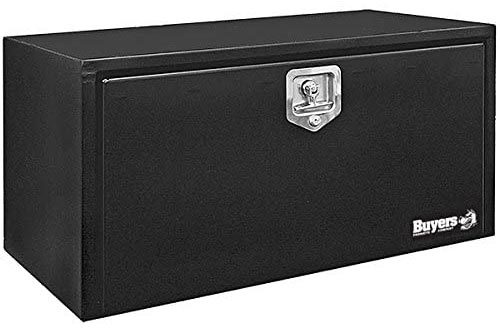 Buyers Products Black Steel Underbody Truck Boxes w/ T-Handle Latch (18x18x36 Inch)