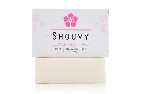 SHOUVY Glutathione White Brightening Soaps - Remedy-Highly Effective For Permanent Scar Removal-Anti-Oxidant & Antiaging With Coconut Oil & Vitamins C, B3-Acne & Pigmentation Cur - 4 Oz