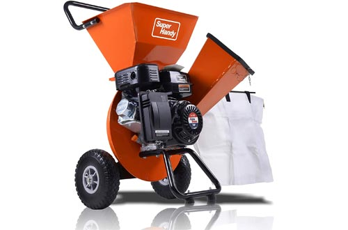 """SuperHandy Wood Chippers Shredder Mulcher Ultra Duty 7HP Gas 3 in 1 Multi-Function 3"""" Inch Max Wood Capacity EPA/CARB Certified for Fire Prevention/Building Firebreaks (Amazon Exclusive only for USA)"""