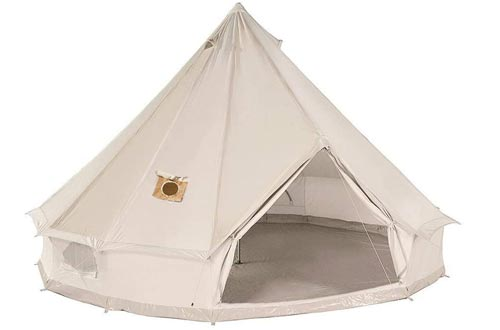DANCHEL Cotton Bell Tents with Two Stove Jacket (Top and Wall)
