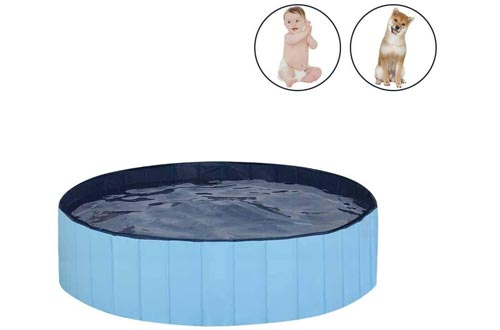 MorTime Foldable Dog Pools Portable Pet Bath Tub Large Indoor & Outdoor Collapsible Bathing Tub for Dogs and Cats