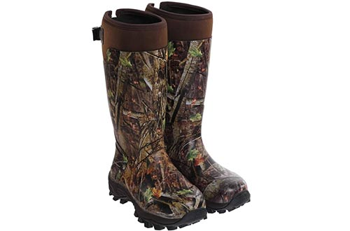 Hisea Hunting Boots for Men Waterproof Insulated Rubber Boots Rain Boots Neoprene Mens Boots