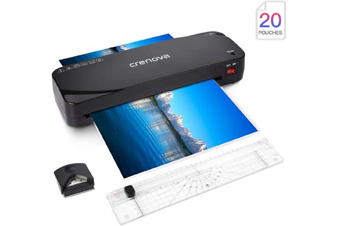 Laminator, Crenova A4 Laminator, 4 in 1 Thermal Laminator, 9 inches, 20 Laminating Pouches, Paper Trimmer, Corner Rounder