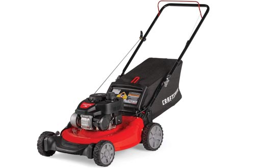 CRAFTSMAN M105 140cc 21-Inch 3-in-1 Gas Powered Push Lawn Mowers with Bagger