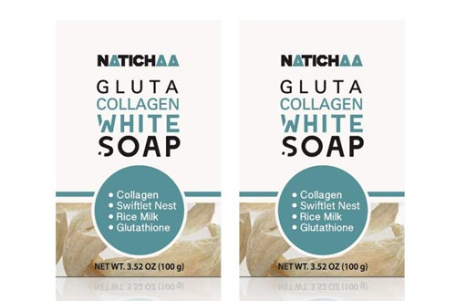 Glutathione & Collagen Whitening Soaps ( 2 Pack ) - Reduce Wrinkles, Freckles, Dark Spots & Acne-Firm & Lightening Your Complexion For Body & Facial Skin - All Skin Types