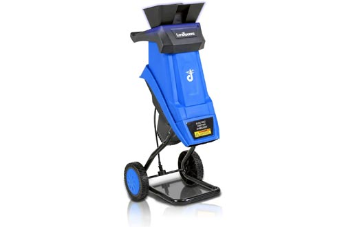 """Landworks Wood Chippers""""Improved"""" Shredder Electric with Hopper Attachment Light Duty 17:1 Reduction 15-Amp 1800 Watts 120V AC""""Improved Chippers"""""""