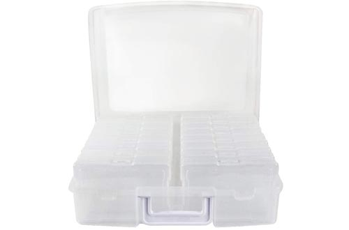 """Novelinks Photo Case 4"""" x 6"""" Photo Boxes Storage - 16 Inner Photo Keeper Photo Organizer Cases Photos Storage Containers Boxes for Photos (Clear)"""
